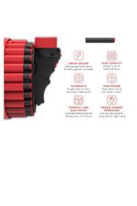 diagram of d-dart blaster features